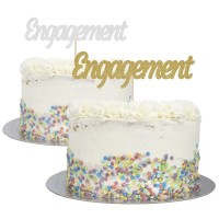 Engagement Cake Topper