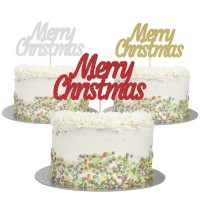 Large Merry Christmas Cake Topper