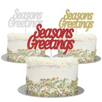 Large Seasons Greetings Cake Topper