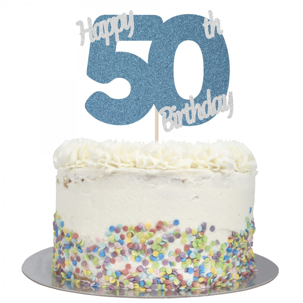 Remarkable Buy Happy 50Th Birthday Cake Topper Online Personalised Birthday Cards Veneteletsinfo
