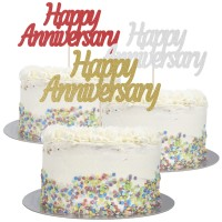 Large Happy Anniversary cake Topper