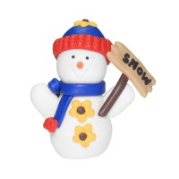 Snowman with Snow Sign Decoration