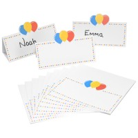 Balloon Design Celebration Place Name Cards - 12pk