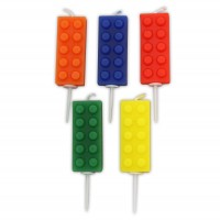 Building Block Pick Candles - 5pk