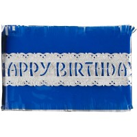 Blue Happy Birthday Cake Frill - 88cm