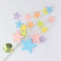 Pastel Multi Coloured Star Spray