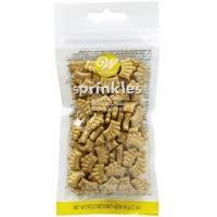 Wilton Sprinkles - 56g Bag: Gold Crowns