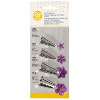 Wilton Piping Tip Sets: Drop Flower Tip Set