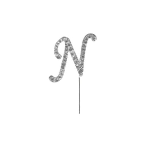 Letter N Diamante Pick