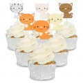 Assorted Cute Cats Cupcake Toppers - 12pk