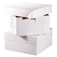 White Glossy Cakes Boxes Pack of 10