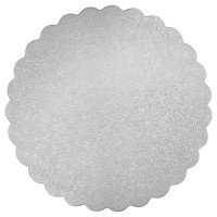"8"" Round Scalloped Edge Cake Card"