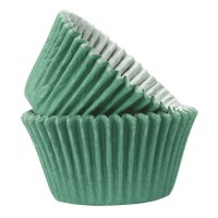 Green Paper Cupcake / Muffin Cases