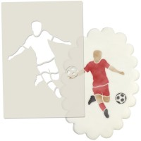 Football Player Cake Topper Stencil