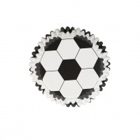 Football Foil Lined Cupcake Cases 30pk