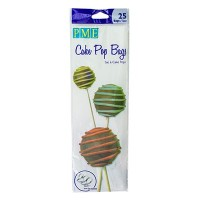 Cake Pop Bags with Silver ties - 25 bags