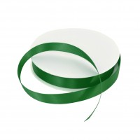 15mm Hunter Green Double Sided Satin Ribbon - 25m Roll