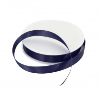 15mm Navy Blue Double Sided Satin Ribbon - 25m Roll
