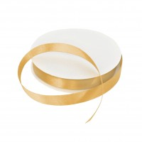 15mm Light Gold Double Sided Satin Ribbon - 25m Roll