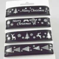 Black & Silver Merry Christmas Ribbon Selection Pack - 4 x 2m