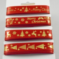 Red & Gold Merry Christmas Ribbon Selection Pack - 4 x 2m
