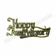 'Happy Anniversary' Gold Effect Motto