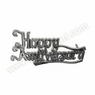 'Happy Anniversary' Silver Effect Motto