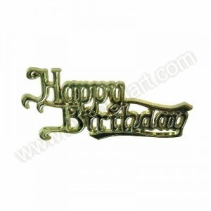 'Happy Birthday' Gold Effect Motto