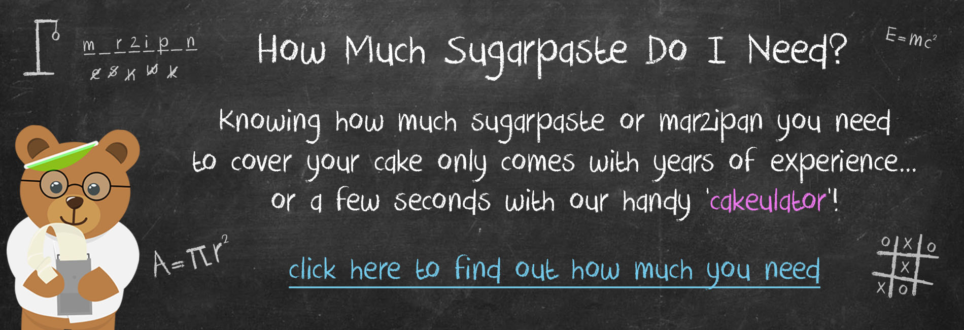 Find out how much sugarpaste you need to cover your cake