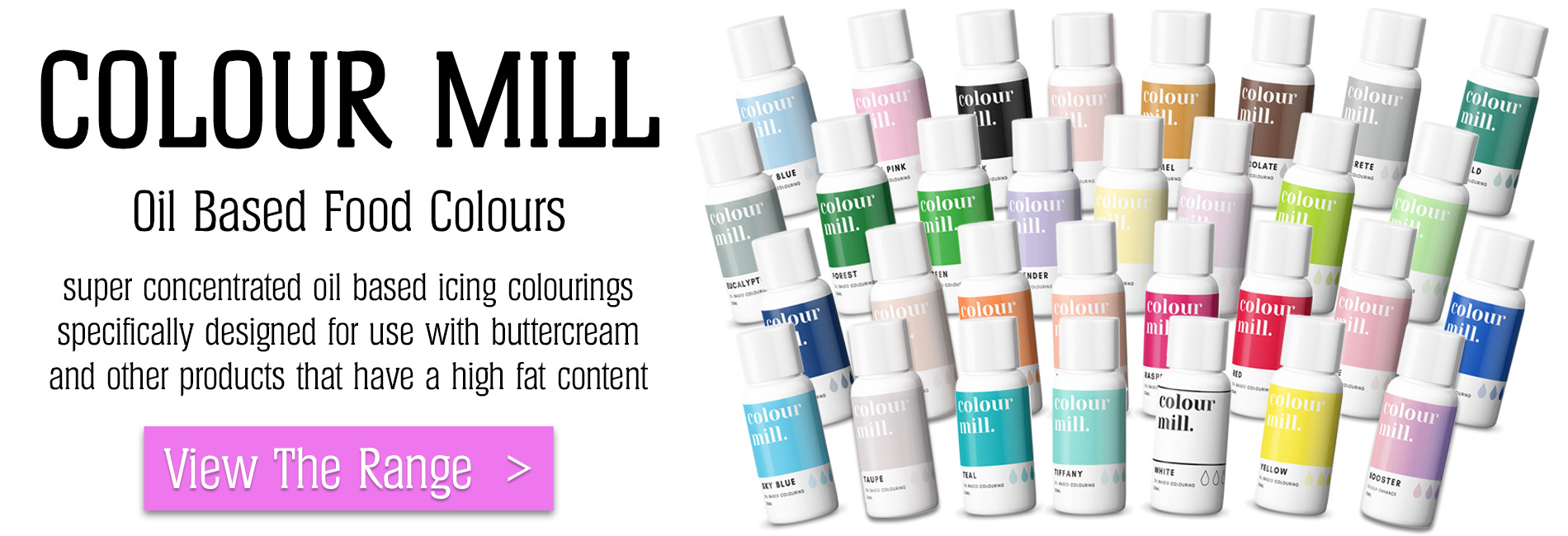 Colour Mill Oil Based Concentrated Icing Colouring