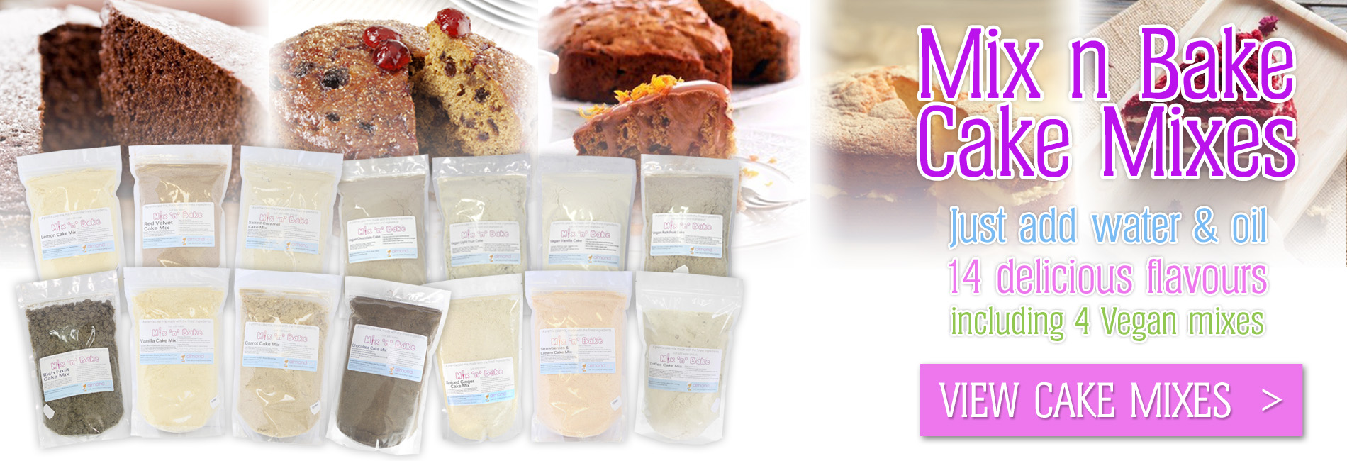 Mix n Bake Cake Mixes - 14 Delicious Flavours