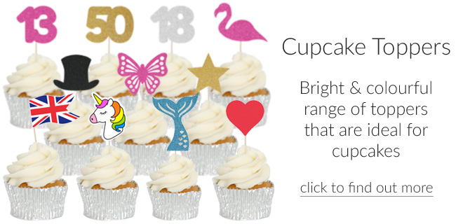 New range of cupcake toppers